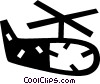 helicopter Vector Clip Art graphic