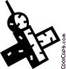 Vector Clip Art image  of a Satellite