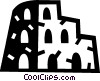 Vector Clipart graphic  of a Roman coliseum