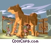 Trojan Horse Vector Clipart illustration