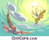 Icarus (who flew too high) Vector Clip Art picture