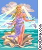 Vector Clip Art graphic  of an Aphrodite God of Beauty and