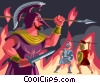 Ares, God Of War Vector Clipart picture