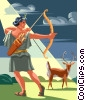Artemis, Goddess of The Hunt Vector Clipart picture