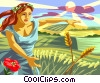Vector Clipart graphic  of a Demeter