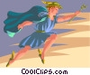 Vector Clipart picture  of a Hermes