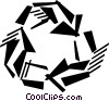 Vector Clip Art image  of a recycling symbol