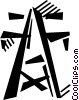hydro tower Vector Clipart picture