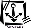 Vector Clip Art graphic  of an anchor