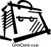 Vector Clipart image  of a file folder