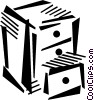 Vector Clip Art image  of a filing cabinet