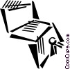 Vector Clipart picture  of a contract