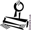 Vector Clipart picture  of a rubber stamp