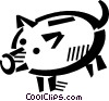Vector Clipart illustration  of a piggy bank