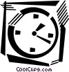 Vector Clipart picture  of a wall clock