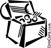 Vector Clip Art graphic  of a treasure chest