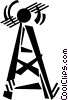 communication tower Vector Clip Art image