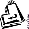 Vector Clipart graphic  of a keyboard key