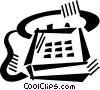 Vector Clip Art graphic  of a telephone
