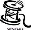 spool of thread Vector Clip Art picture