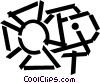 spot light Vector Clip Art picture