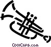 Vector Clip Art graphic  of a trumpet