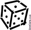 dice Vector Clipart graphic