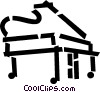 Vector Clipart illustration  of a piano