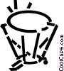 Vector Clip Art graphic  of a timpani
