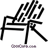 beach chair Vector Clipart graphic