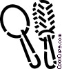Vector Clip Art graphic  of a brush and mirror