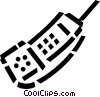 Vector Clip Art image  of a wireless phone