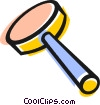 Vector Clipart graphic  of a magnifying glass