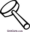 Vector Clip Art image  of a magnifying glass