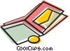 Vector Clipart illustration  of a Wallet with change