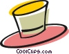 Vector Clip Art image  of a Dress up hat