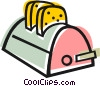 Vector Clipart illustration  of a toaster
