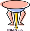 Vector Clip Art picture  of a end table
