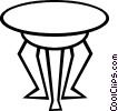 Vector Clipart image  of a end table