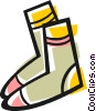 Wool socks Vector Clip Art picture