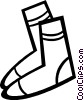 Vector Clip Art graphic  of a Wool socks