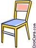 Vector Clip Art image  of a Kitchen chair