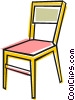 Vector Clipart graphic  of a Kitchen chair