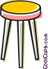 Vector Clip Art picture  of a Bar stool