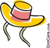 Vector Clip Art picture  of a Sun hat