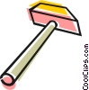 Vector Clipart picture  of a Wooden mallet