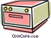 Vector Clipart illustration  of a Cook oven