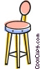 Vector Clipart image  of a Bar Stools and Benches