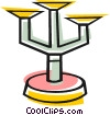 Vector Clip Art image  of a Candle holder