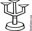 Candle holder Vector Clip Art picture